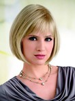 Short Straight Bob Style Lace Front Mono Top Synthetic Wig