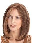 Human Hair Classic Lace Front Medium Straight Wig