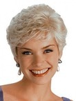Short Synthetic Fashion Capless Wig