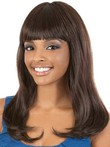 Wavy Synthetic Long African American Wig With Full Bang
