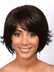 Capless Remy Human Hair Shimmering Wavy Wig