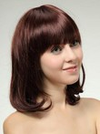 Medium Romantic Wavy Human Hair Wig
