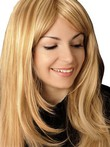 Feathered Long Straight Synthetic Lace Front Wig