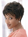 Dramatic Synthetic Cut Short African American Wig