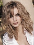 Lace Front Medium Wavy Nice Human Hair Wig