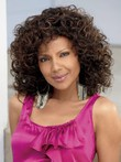 Capless Loose Curly Medium Synthetic African American Wig