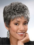 Capless Graceful Synthetic Wavy Gray Wig