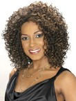 Mid-curly Synthetic Length Lace Front African American Wig