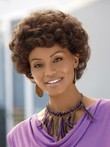 Synthetic Micro-kink Short Capless African American Wig