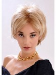 Wavy Feminine Blonde Monofilament Beautiful Short Wig