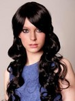 Synthetic Wavy Pleasant Capless Wig