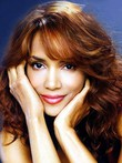 Halle Berry Charming Long Human Hair Wavy Lace Front Wig
