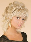 Charming Capless Medium Synthetic Wavy Wig