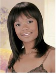 Charming Straight African American Wig