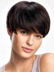 Gorgeous Short Lace Front Elegante Human Hair Straight Wig
