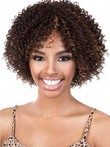 Medium Natural Curly African American Wig