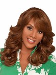 Synthetic Long Charming Wavy African American Wig