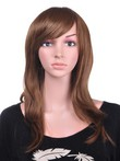 Textuhuman Hair Straight Red Long Wig