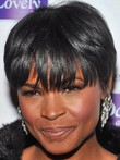 Black Short Straight African American Wig