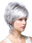 Red Gray Layelace Front Synthetic Wig