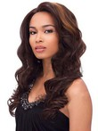 Lace Front Wavy Miraculous Human Hair Wig