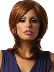 Synthetic Straight Medium Lace Front Wig For Woman