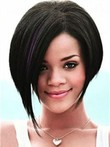 Rihanna Straight Lace Front Romantic Human Hair Wig