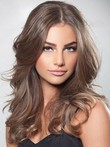 Chic Wavy Human Hair Long Lace Front Wig