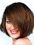 Charming Length Medium Capless Human Hair Wig