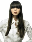 Nice-looking Straight Capless Long Human Hair Wig