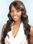 Side Fringe Water Synthetic Wavy African American Wig