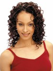 Capless Medium Human Hair Curly Comfortable African American Wig