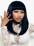 Nicki Freestyle Synthetic Straight Full Bangs Celebrity Wig