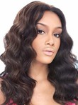 Lace Front Human Hair Modern Wavy Wig
