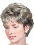 Gray Wavy Short Lace Front Wig