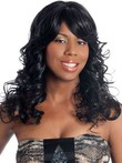 Lace Front Long Remy Hair Wavy African American Wig
