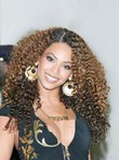 Beyonce Knowles Human Hair Full Lace Real Curly Celebrity Wig