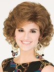 Medium Wavy Gorgeous Synthetic Wig