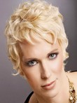 Full Lace Wavy Simple Short Human Hair Wig For Woman