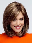 Straight Lace Front Comfortable Brown Human Hair Wig