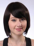 Short Polished Nice Smooth Straight Human Hair Wig