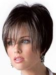 Short Looking Good Human Hair Wig With Long Fringe