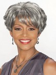 Synthetic Boy Cut Short Gray Wig