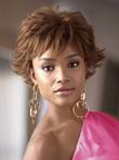 Cute Synthetic Short Wavy Capless African American Wig
