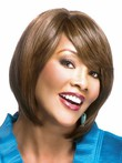 Remy Human Hair Modern Straight African American Wig