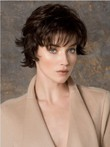 Comfortable Brown Short Wavy Monofilament Most Popular Cheap Wig