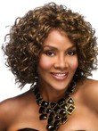 Wavy Mid-length Synthetic Graceful African American Wig