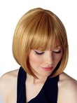Short Capless Bob Style Straight Synthetic Wig