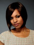 Human Hair Silky Straight Bob Style African American Wig