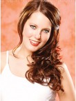 Durable Capless Auburn Wavy Pleasant Wig